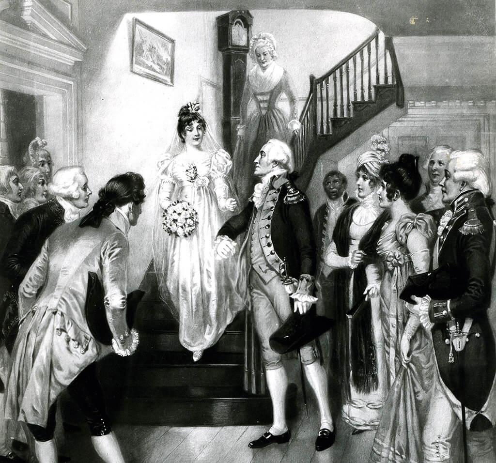 Washington Escorting The Bride